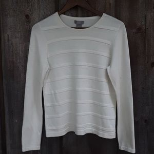 Bass Cream Silk/Cotton Sweater Size Medium